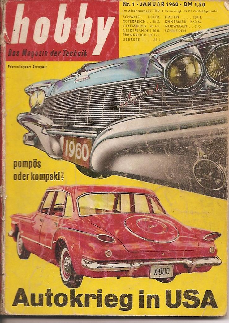 Antiquar. Technikzeitschriften Hobby 11 Stück