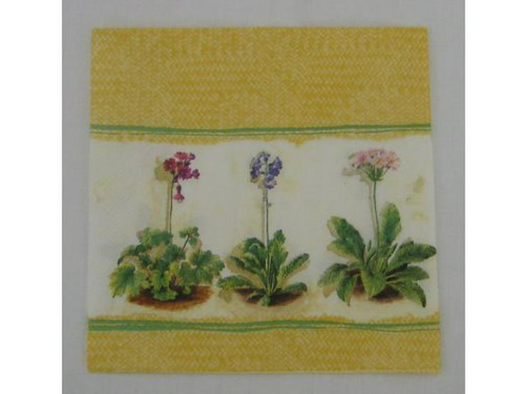 3 Servietten Primula yellow 063