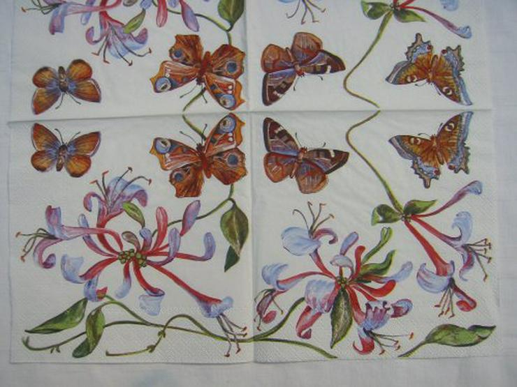 3 Servietten Blüten 081