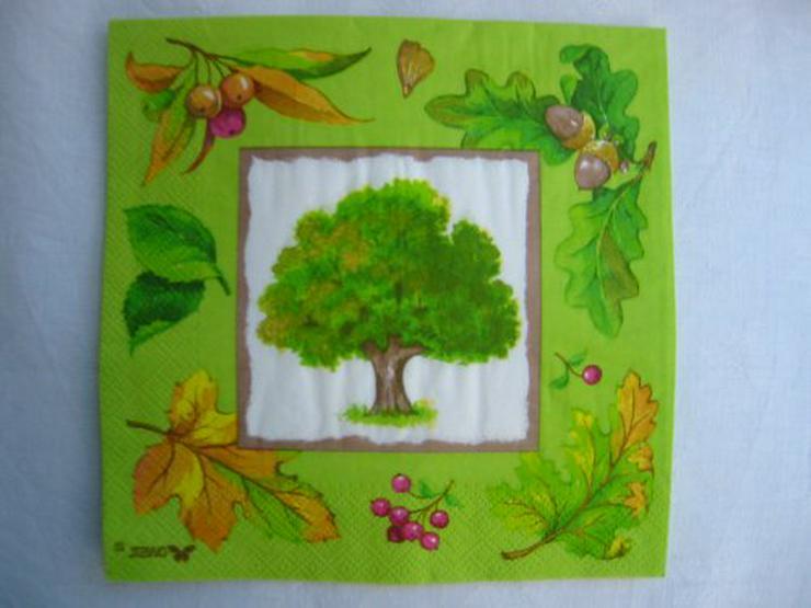 3 Servietten Herbstbaum 044