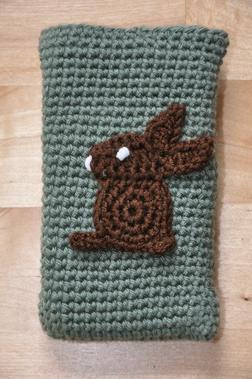 Handytasche Handyh�lle geh�kelt Hase - Cover & Schutzh�llen - Bild 1