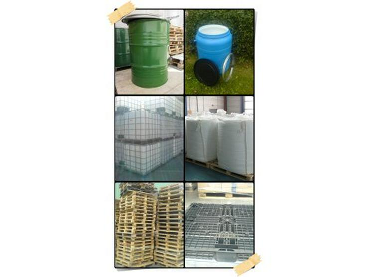 IBC-Tanks, Paletten, Fässer, Big Bags