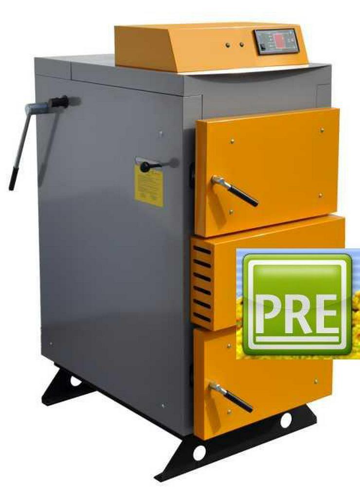 Holzvergaser 18 kW mit Fernbedienung. prehalle