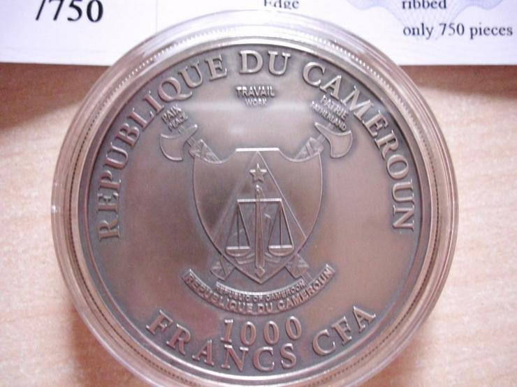 Bild 2: 1.000 Francs Afrika Kamerun - Leopard