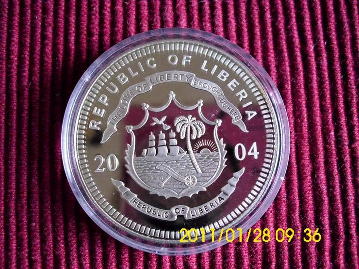 Bild 2: 20 $ Silbermünze   Liberia