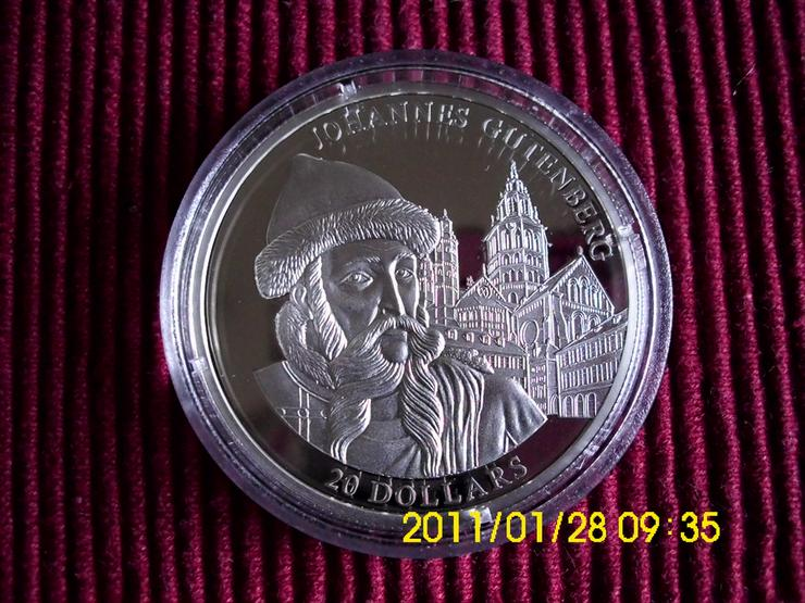 20 $ Silbermünze   Liberia