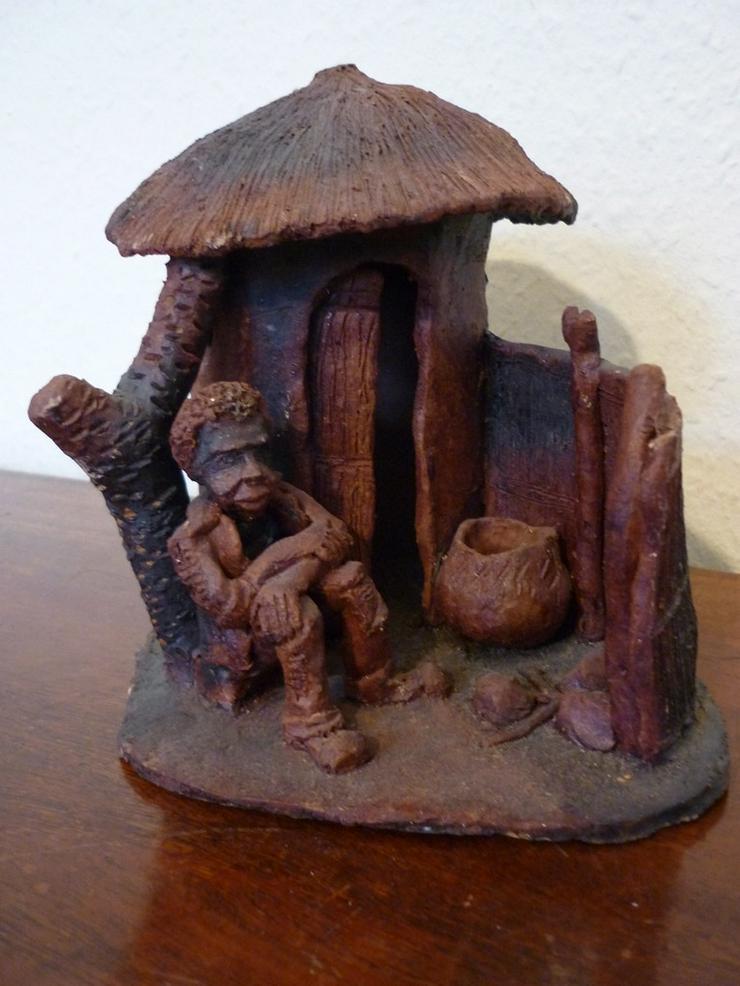 Modell Eingeborenenhütte Afrika 18 cm