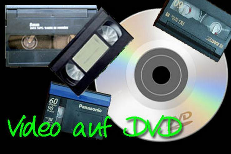 VHS-Videokassetten auf DVD - Vidoeüberspielung