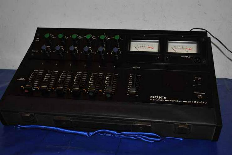 Sony 6 Channel Microphone Mixer MX-670