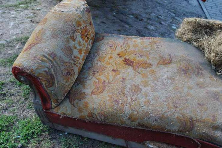Bild 6: Gründerzeit Sofa / Couch mit Holzgestell aus Nu