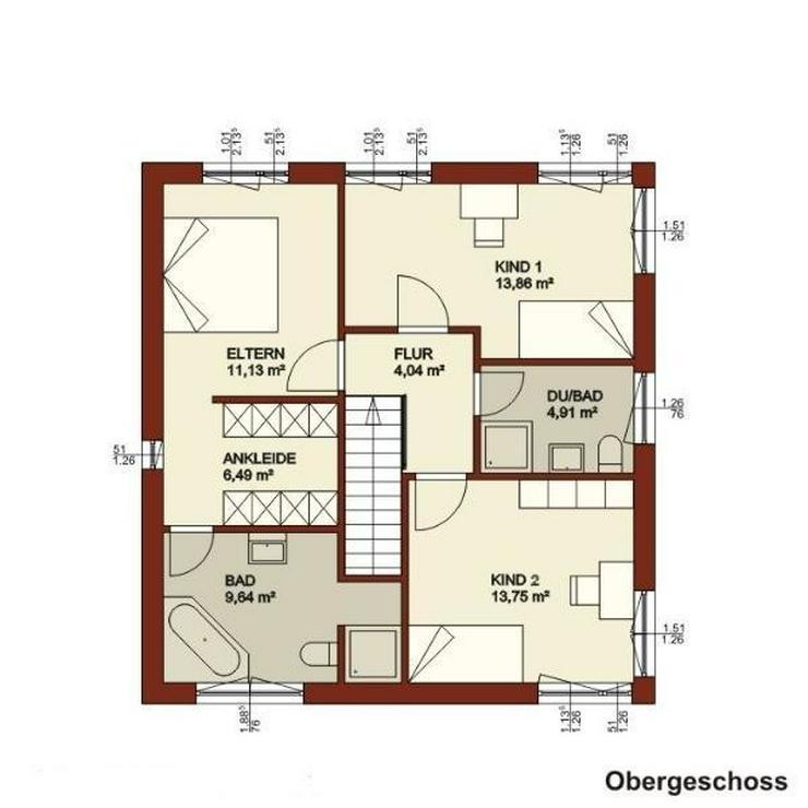 """Bild 3: Ihre Stadtvilla mit Ankleide, Gäste-WC, """"Eltern-"""" und separatem Kinderbad - andere werden..."""