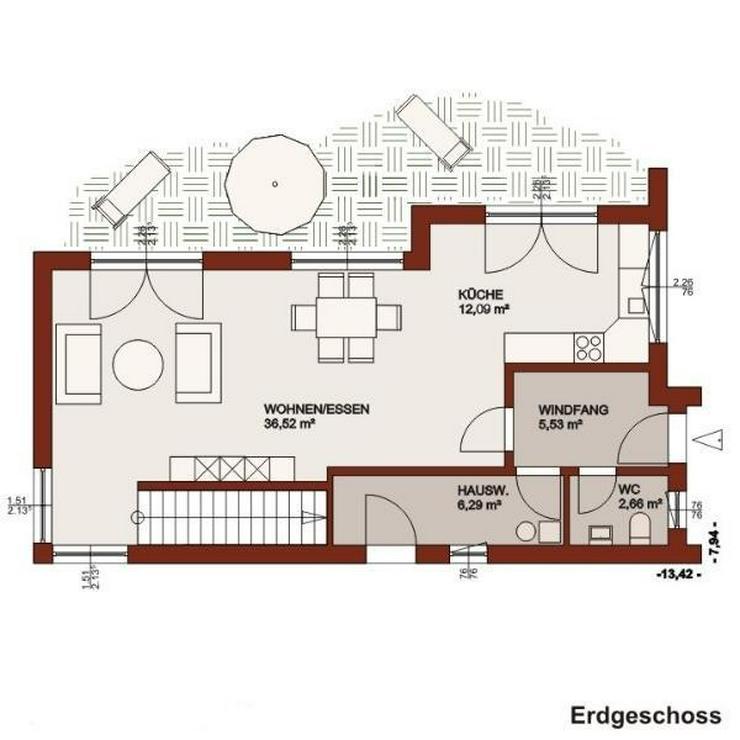 Ihr raffiniertes Raumkonzept mit vielen tollen Extras wartet auf Sie! - Haus kaufen - Bild 2