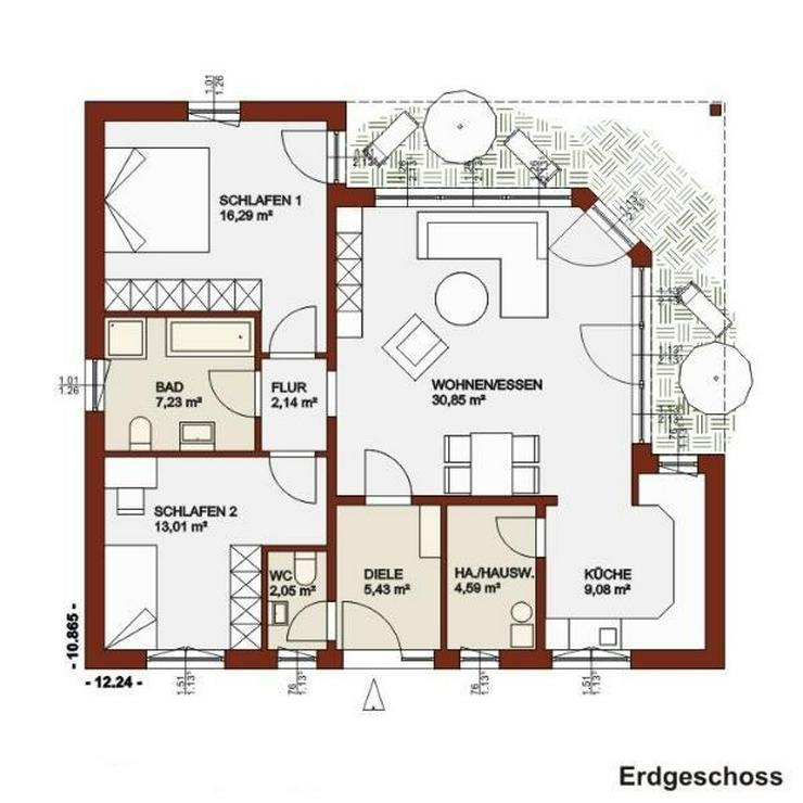 Bild 2: Hier fühlen Sie sich von 0 - 100 Jahre wohl - eine Ebene, alle Räume!