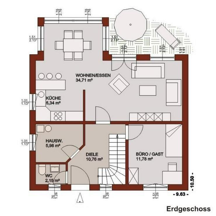 Bild 2: Großzügige Raumaufteilung und Wintergartenelemente inclusive!