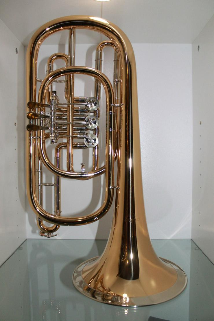 Luxus Basstrompete in Bb. Goldmessing, Handarb. - Blasinstrumente - Bild 1