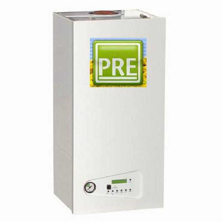 Gas Brennwert Heizung 30 kW + 200 L Speicher.