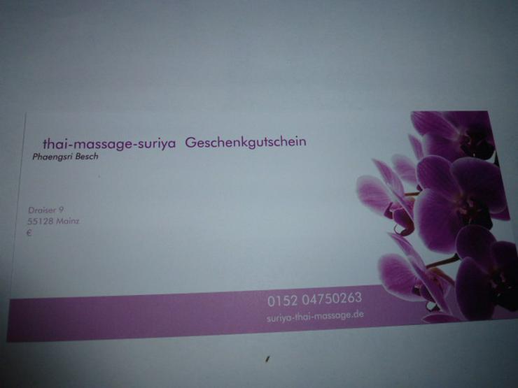 (169) GESCHENKGUTSCHEIN thai-massage-suriya