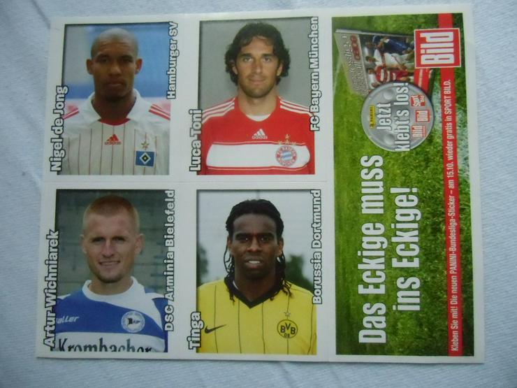 Fußball-Bundesliga-Sticker (auch zu verschicken
