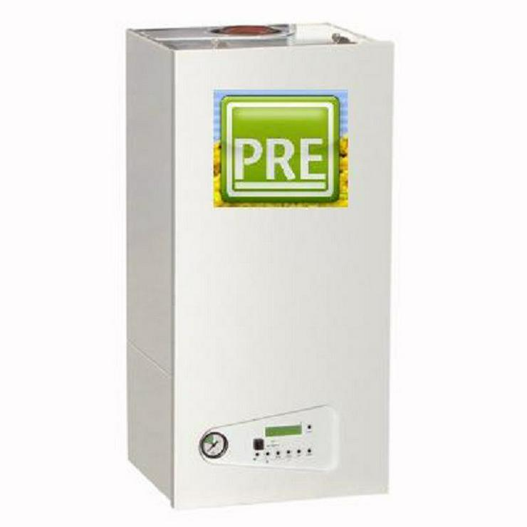 Gas Therme 30 kW + Armaturenset + 150 L Boiler