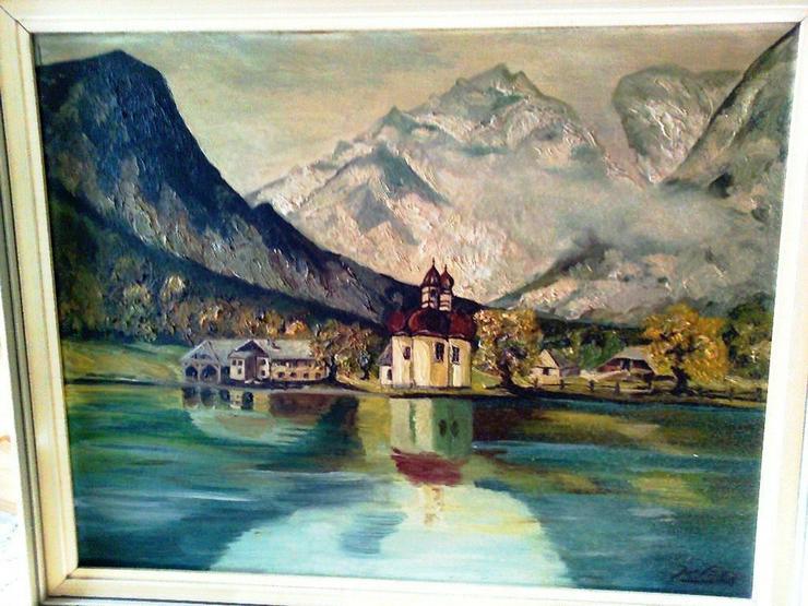 Bilder schönes Ölgemälde Sankt Bartholomä mit Königsse - Gemälde & Zeichnungen - Bild 1