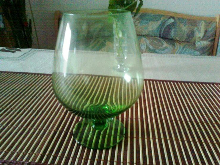 Gläser 20cm hohen Cocnac-Schwenker, grün - Gläser - Bild 1