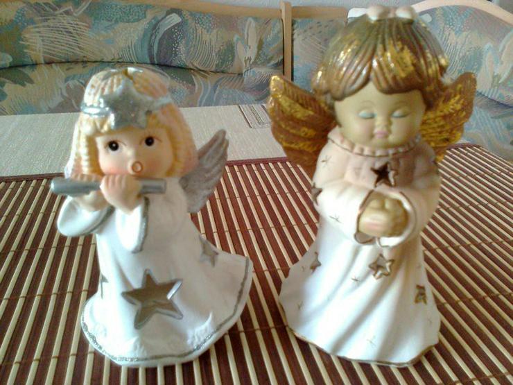 2 Engel als Teelichthalter - Kerzen & Kerzenständer - Bild 1