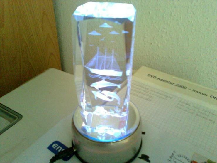 Chrystallquader mit 7 fach Farbwechsler