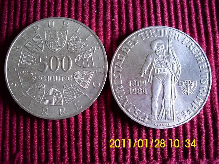 500 Öschi   175. Jahrestag des Tiroler Freiheit - Europa (kein Euro) - Bild 1