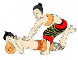 Thaimassage und Aroma-�l-Massage
