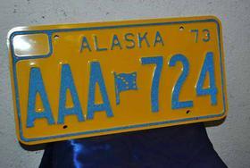 2 Nummerschilder Alaska 73 Blechschi - Figuren & Objekte - Bild 1