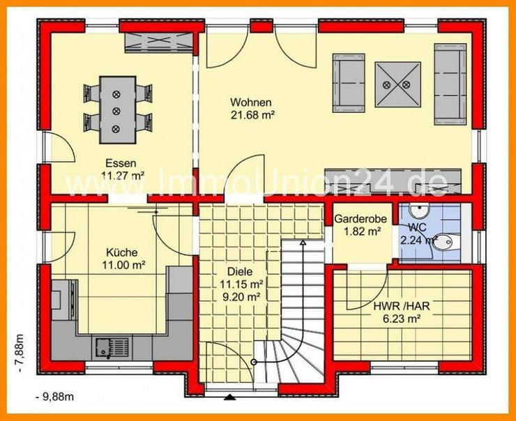 Bild 3: 2 0 9. 9 0 0,- für massives + SCHLÜSSELFERTIGES Haus 1 2 6 qm auf Bodenplatte in HEILIGE...