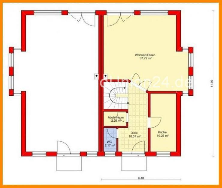 Bild 3: Stein auf Stein & schlüsselfertige Doppelhaushälfte 1 2 2 qm auf Bodenplatte in STEGAURA...