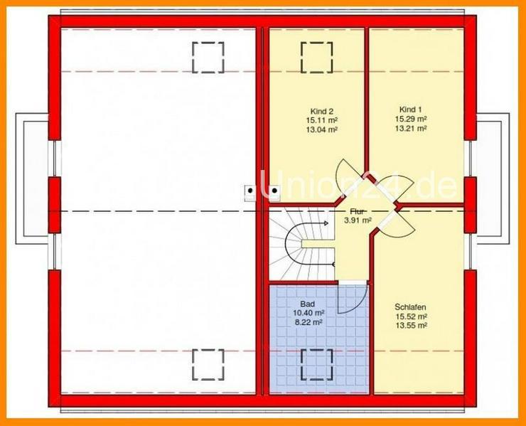 Bild 4: Stein auf Stein & schlüsselfertige Doppelhaushälfte 1 2 2 qm auf Bodenplatte in STEGAURA...