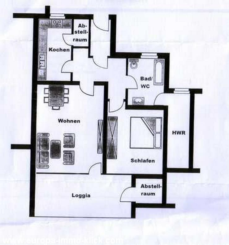 Bild 3: Sehr schöne 2 ZKBB EG.-Wohnung m. Fahrstuhl, Hausbg. 32457