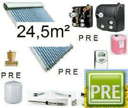 PRE Solaranlage 24 5m� Multispeicher 1500 L - Solarheizung - Bild 1