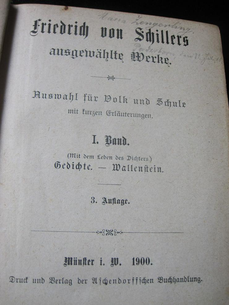 Bild 2: Schillers Werke Band 1 Ausgabe 1900