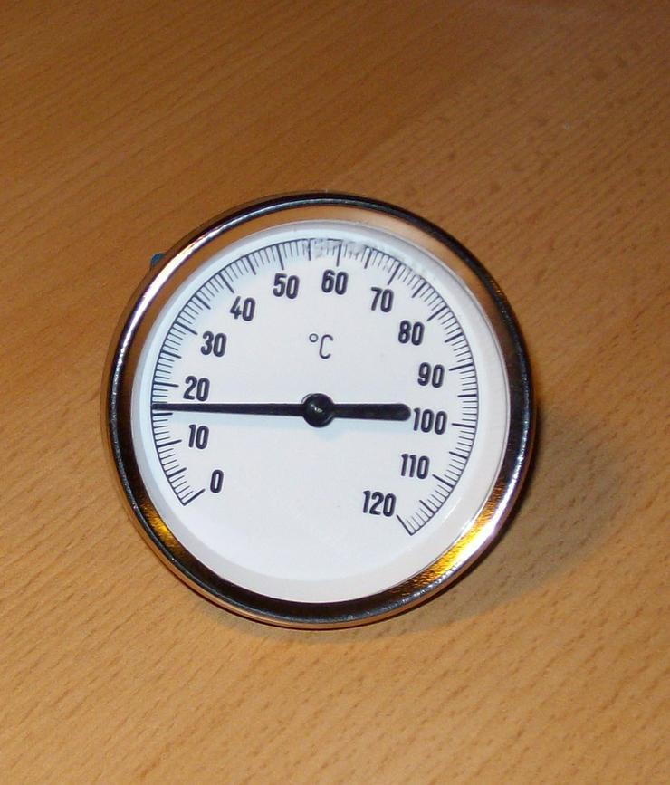 PRE Zeigerthermometer mit Tauchhülse für Puffer - Durchlauferhitzer & Wasserspeicher - Bild 1