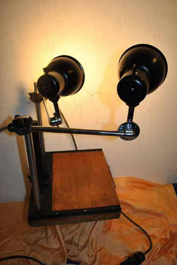 Bild 4: Pentacon Fototisch mit zwei Lampen aus den 50er
