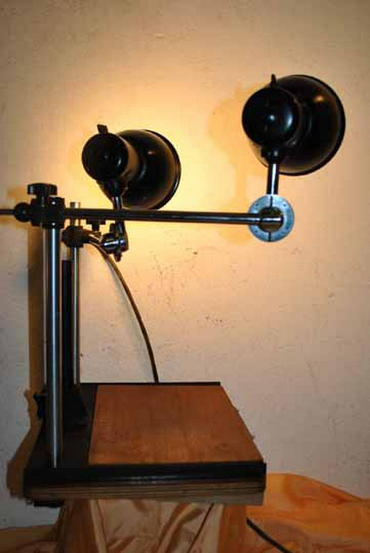 Bild 3: Pentacon Fototisch mit zwei Lampen aus den 50er