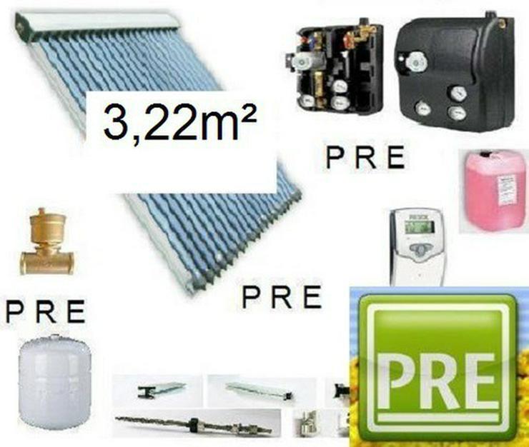 PRE 3,2m² Solaranlage + 200 L Speicher prehalle - Solarheizung - Bild 1