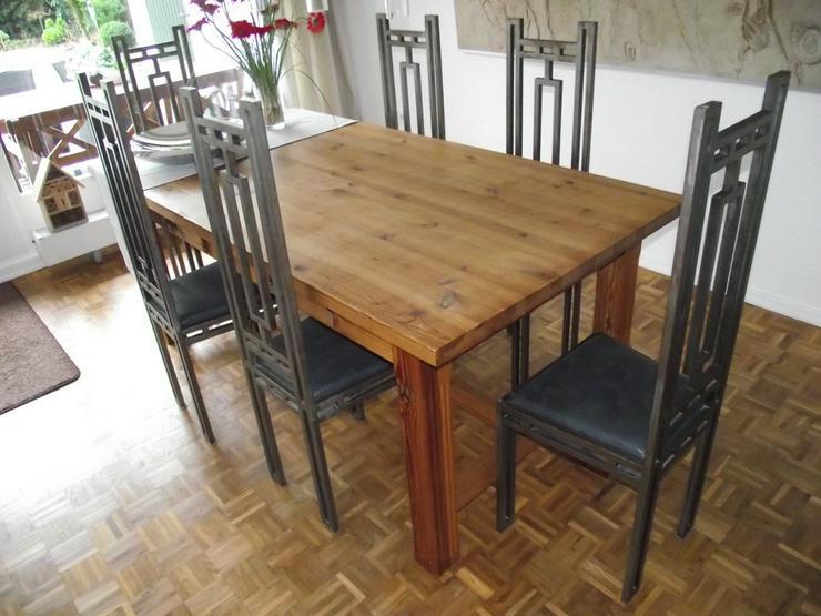 6 Stühle Eisen Metall