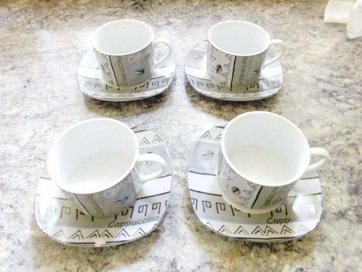 8 tlg.Cappuccino Tassen-Set für 4 Personen
