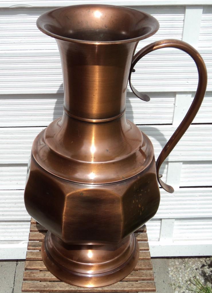 Kupfervase, Bodenvase, Höhe ca. 55 cm