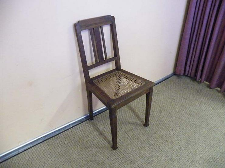 Schöner Jugendstil Stuhl mit Korbgeflecht / Hol