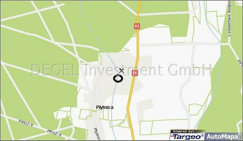 Bild 2: 2900 m² Grundstück mit Rohbau in P?ytnica Polen, Woiwodschaft Großpolen