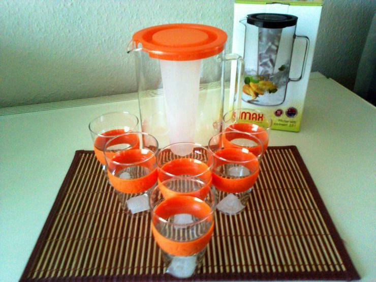 Kühlset für Getränke + 6 Gläser