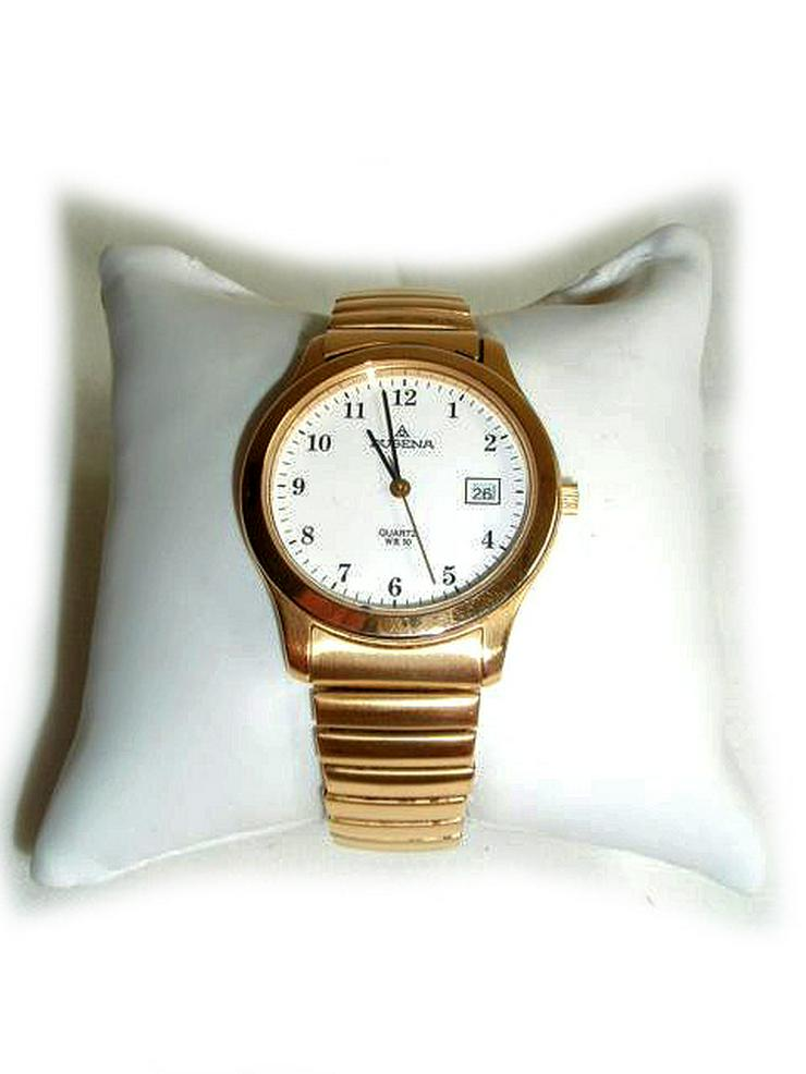 Goldene Herrenarmbanduhr von Dugena
