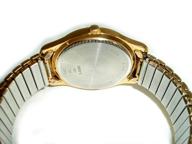 Bild 3: Goldene Herrenarmbanduhr von Dugena