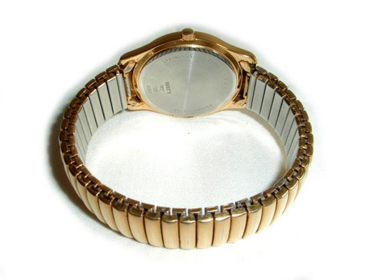 Bild 2: Goldene Herrenarmbanduhr von Dugena