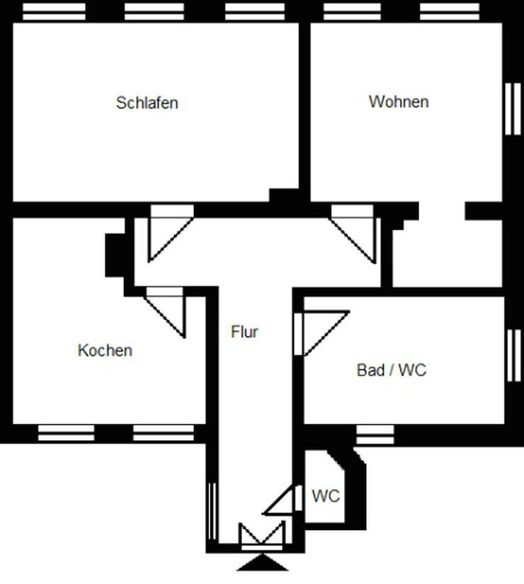 2-Raum-Wohnung mit großem lichtdurchfluteten Bad! - Bild 1